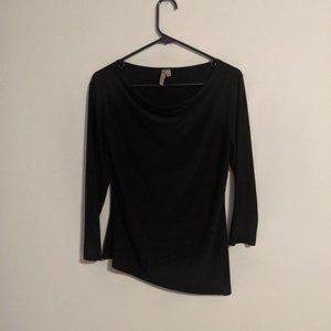 Susan Lawrence Black Long Sleeved Blouse Medium